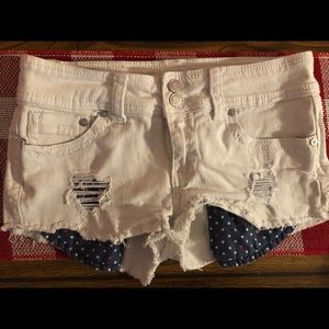 White Low-Rise Shorts